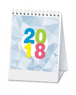 Calendario trimestrale da tavolo con spirale