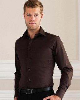 Camicia Stretch attillata maniche lunghe
