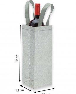 Porta bottiglia laminato e glitterato