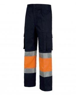 Pantalone bicolore fondo dritto