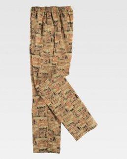 Pantalone unisex stampato