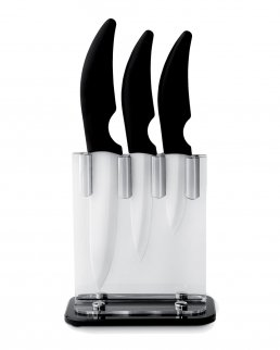 Set 3 coltelli con lame in ceramica