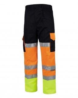 Pantalone fondo dritto bicolore certificato alta visibilità
