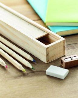 Set di matite in box di legno