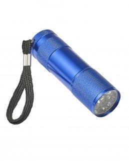 Torcia LED alluminio con nastro da polso