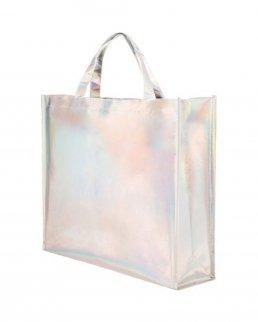 Borsa shopping in tnt laminato iridescente