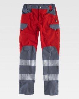 Pantalone combinato e bande riflettente segmentate