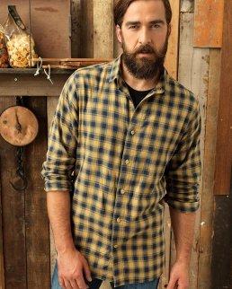 Camicia a maniche lunghe da uomo - Mulligan Check