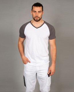 T-shirt con maniche a contrasto Raffaello