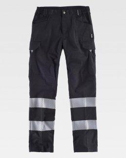 Pantalone con bande riflettente segmentate