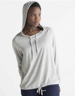 T-shirt Donna maniche lunghe con cappuccio