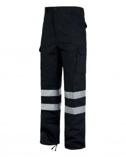 Pantalone con fondo dritto passanti larghi