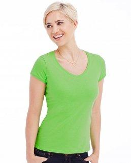 T-shirt con collo a V Megan