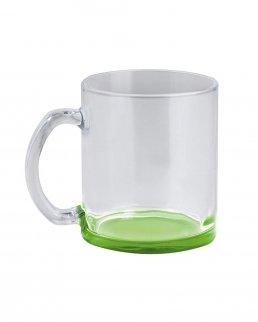 Tazza in vetro con fondo colorato 320 ml