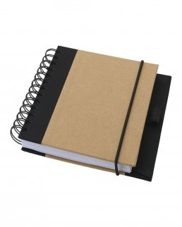 Notebook con copertina a spirale in carta riciclata Evolution