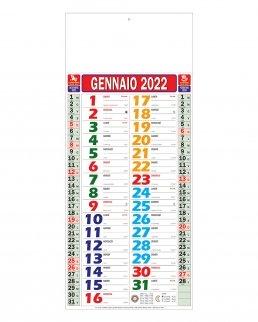 Calendario Olandese Mini Multicolor