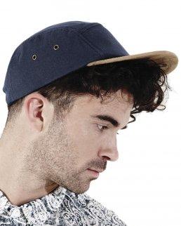 Cappellino visiera scamosciata 5 pannelli