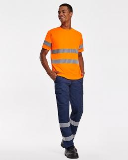 Maglietta tecnica maniche corte di alta visibilità Delta