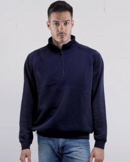Felpa Zip neck raglan sweat