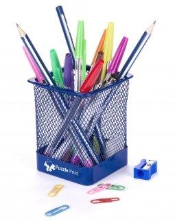 Porta penne in rete metallica