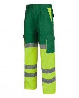 Pantalone bicolore certificato alta visibilità fondo dritto
