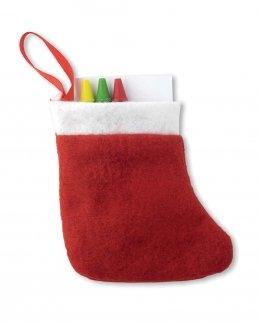Set colori in calza di Natale
