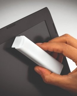 Pulisci schermo con panno in microfibra
