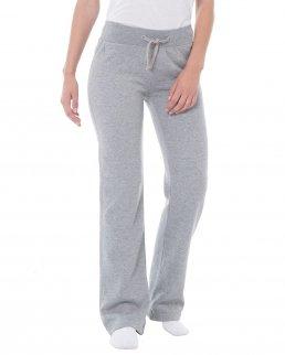 Pantaloni donna felpati con elastico in vita jhk