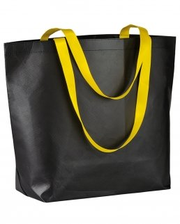 Shopper Nera con manici fluo
