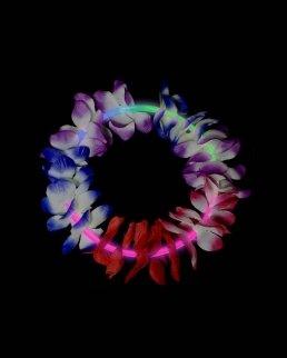 Collane fosforescenti tricolore fiori