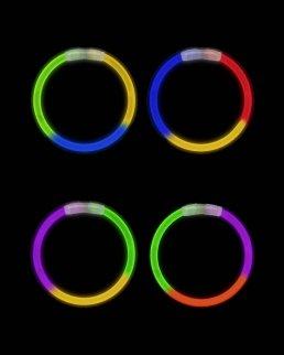 Braccialetti fosforescenti Tricolore