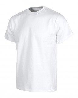 T-shirt bianca da lavoro in cotone