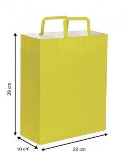 Shopper di carta con maniglia piatta