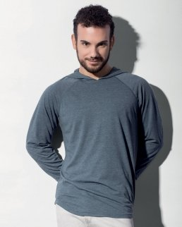 T-shirt Unisex con cappuccio maniche lunghe Cecil