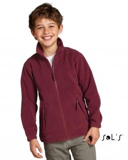 Giacca in pile con zip NORTH KIDS