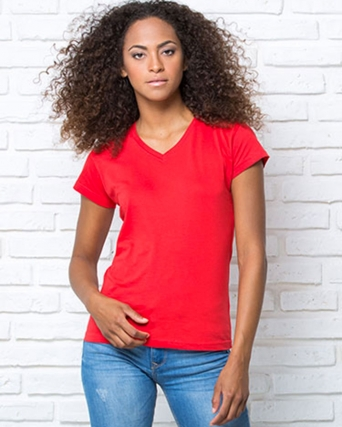 T-shirt regular lady comfort v-neck
