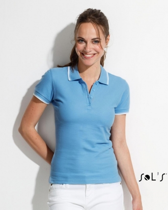 Polo donna stile golf