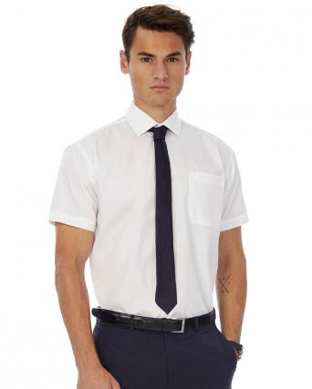 Camicia uomo popeline maniche corte Smart