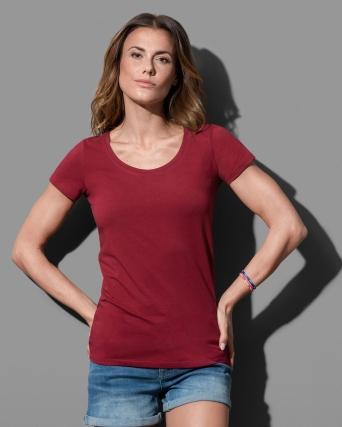 T-shirt con girocollo Claire