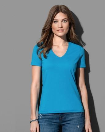 T-shirt con collo a V Classic V-neck