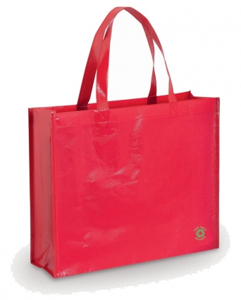 Borsa shopper in tnt laminato