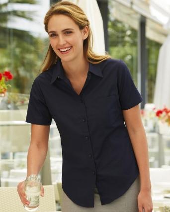 Camicia donna in popeline maniche corte