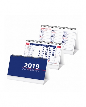 Calendario da tavolo in carta patinata