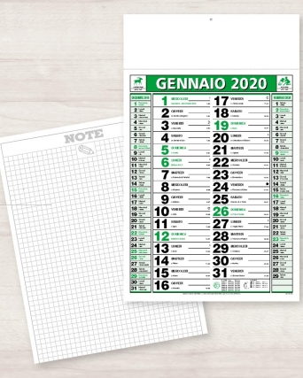 Calendario olandese standard