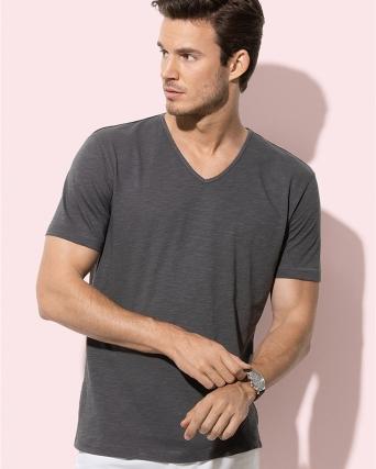 T-shirt uomo scollo a V Shawn