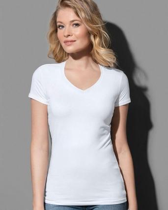 T-shirt con collo a V Claire