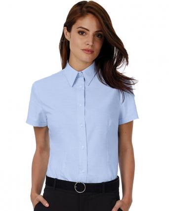 Camicia donna maniche corte Oxford