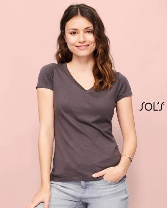 T-shirt donna scollo a V Moon