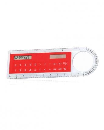 Calcolatrice solare con righello e lente