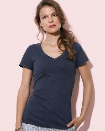 T-shirt con collo a V Lisa
